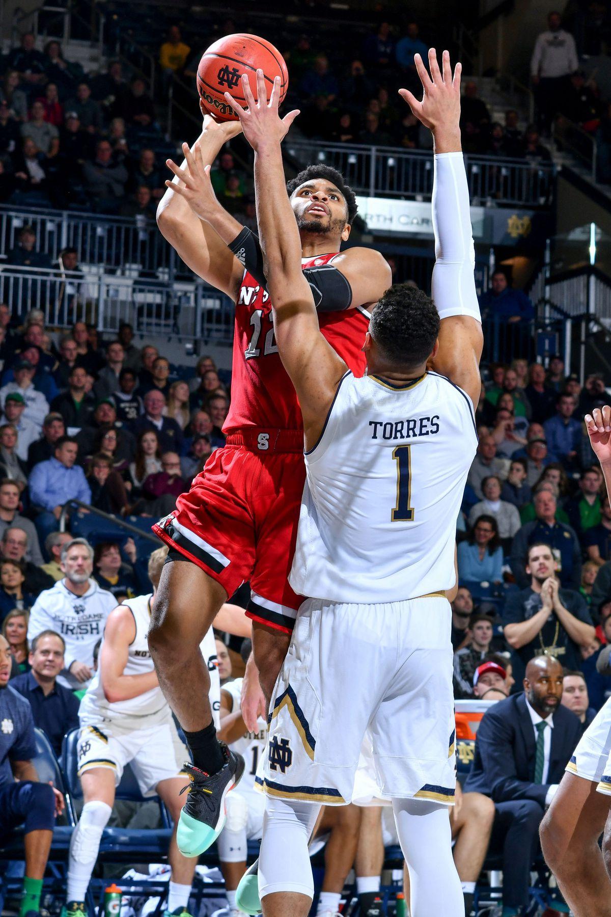 NCAA Basketball: North Carolina State at Notre Dame