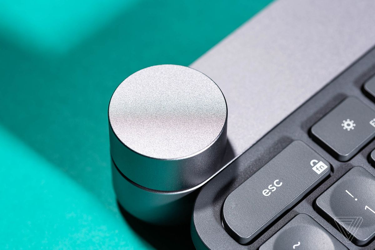 The Logitech Craft keyboard's giant button is a tactile