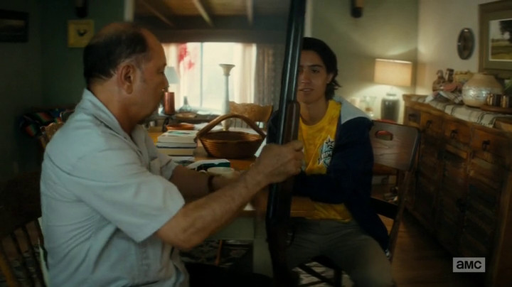 Chris learns how to handle firearms on Fear the Walking Dead.