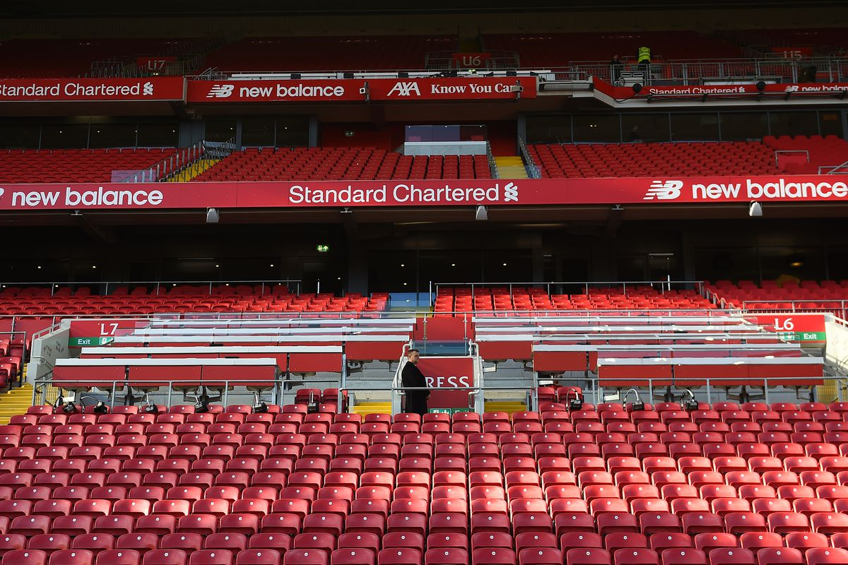 General view of Anfield on April 14, 2019 in Liverpool, England.