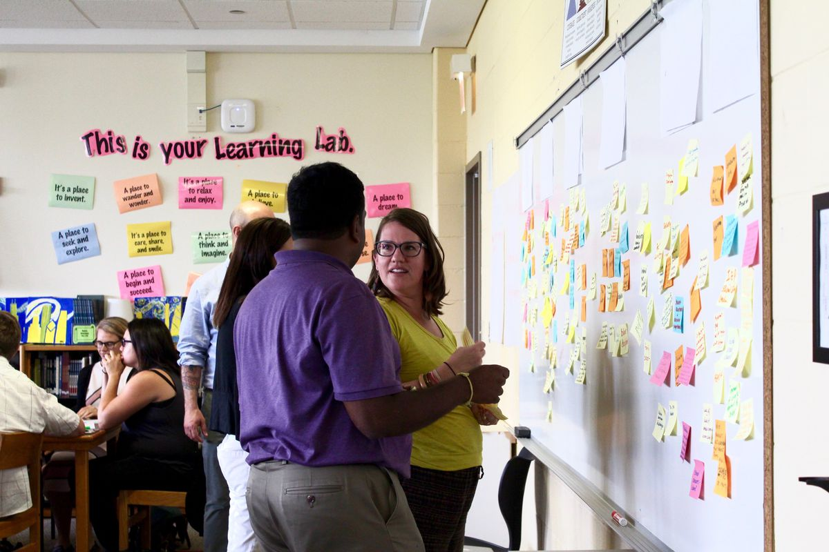The attendees identified racial inequity issues common to their schools in an activity led by Generation All