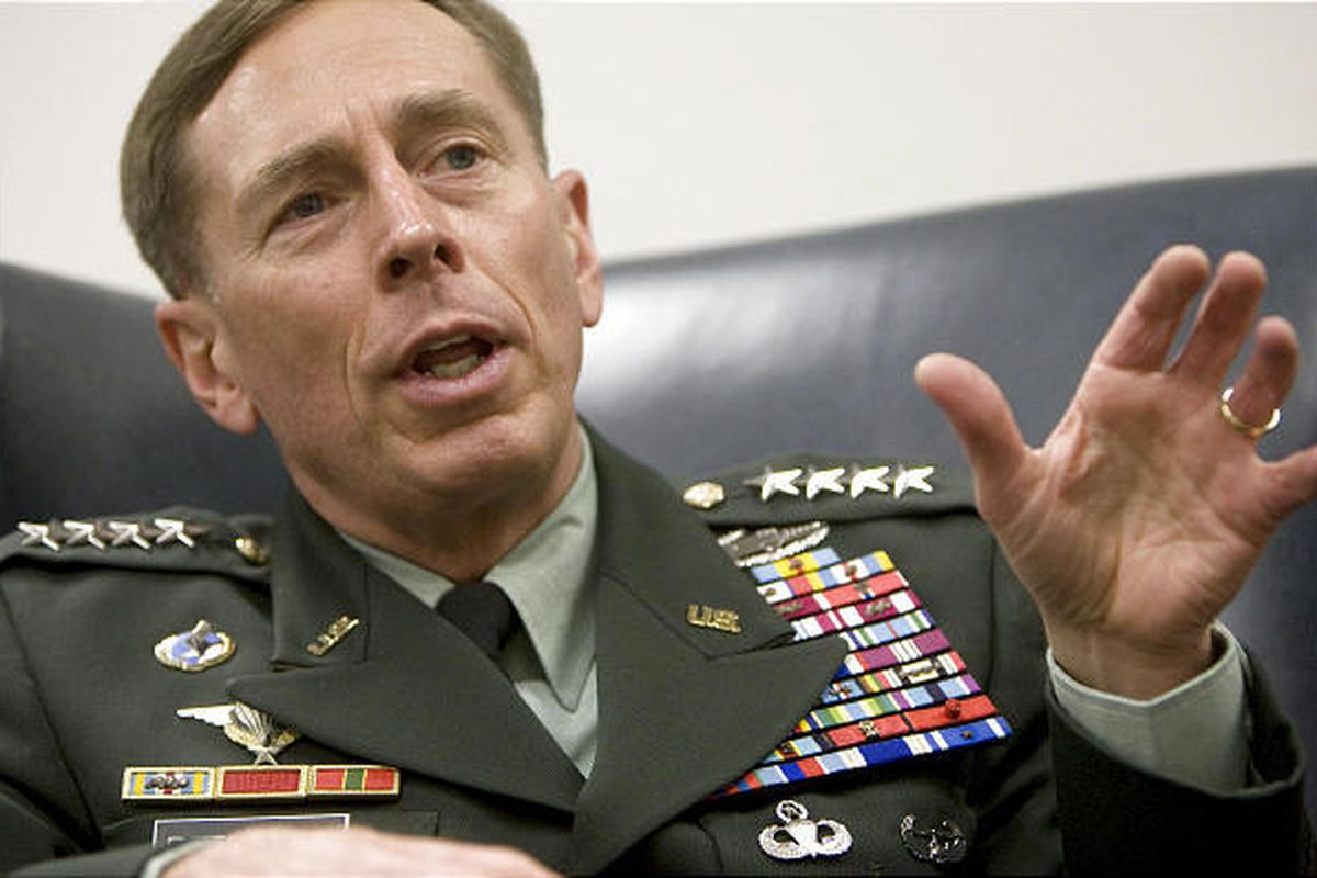 General David H. Petraeus speaks during an interview at BYU Thursday, March 25.