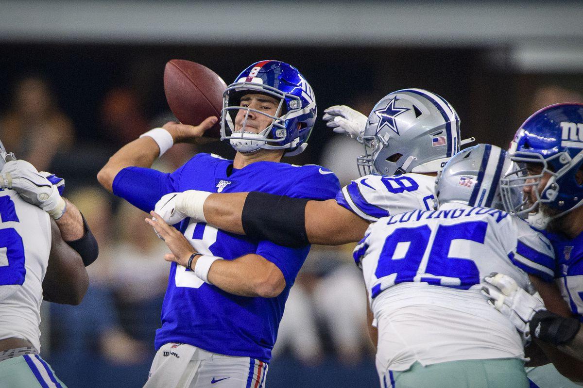 Daniel Jones Fumbles During Garbage Time Drive Vs Cowboys