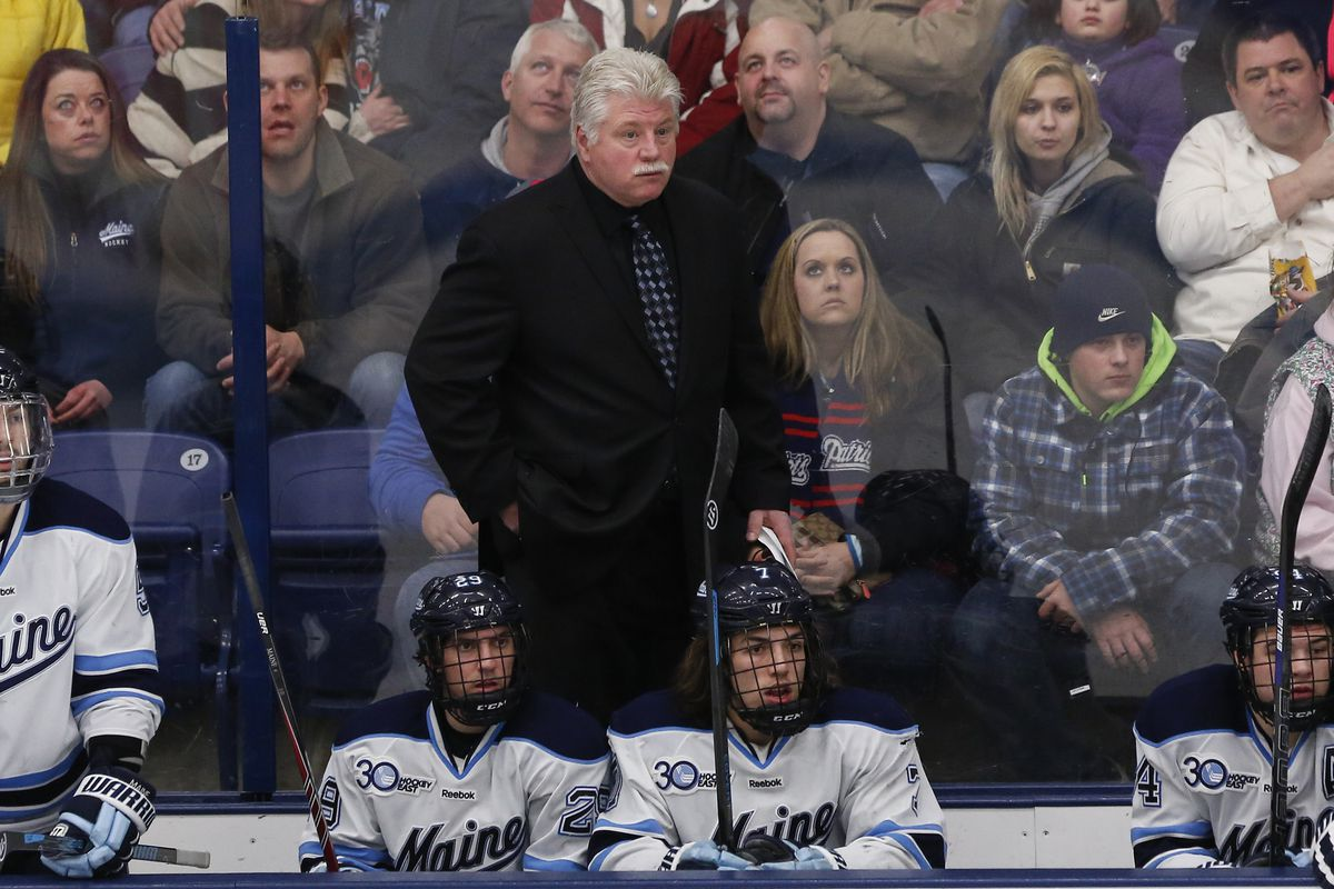 Maine head coach Red Gendron recruited Nolan Vesey to Orono.