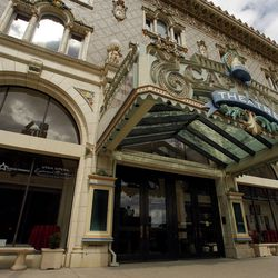 This March 18, 2008, photo shows the facade of the Capitol Theatre, which is home to Utah Opera.