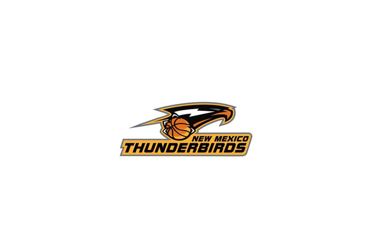 New Mexico Thunderbirds logo with large white background