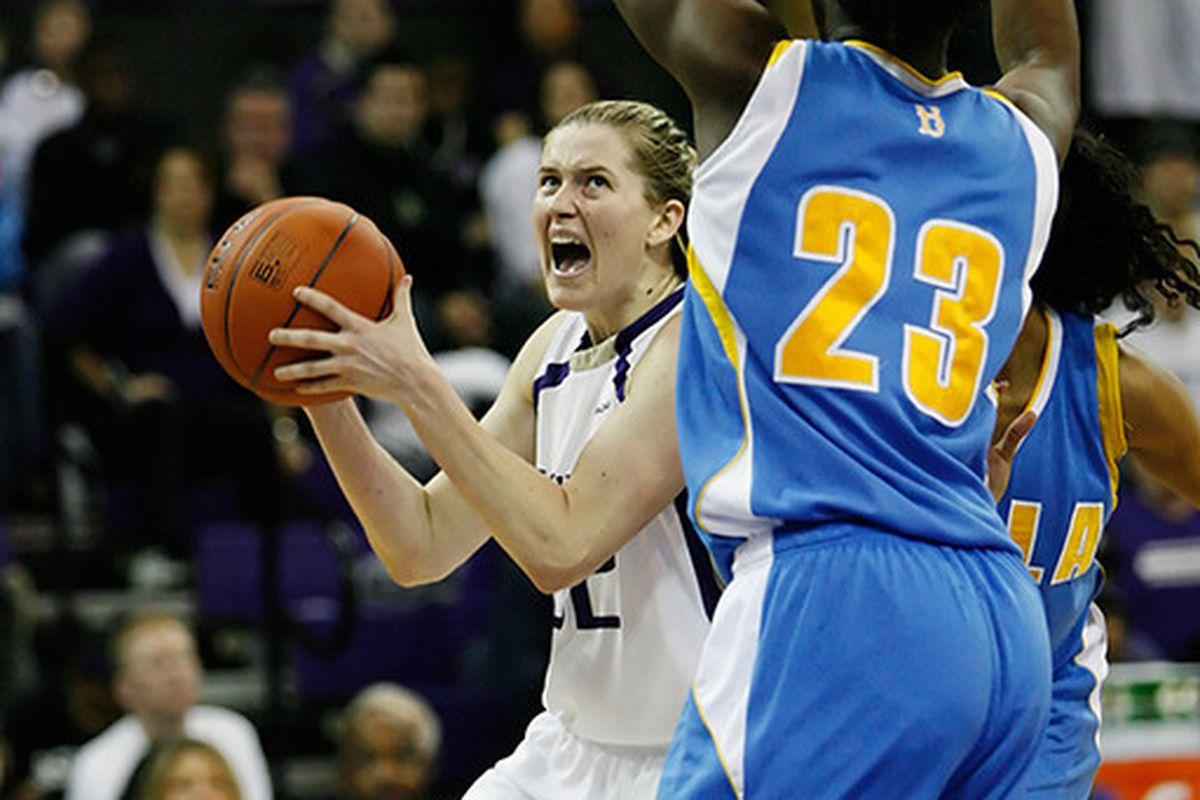 "University of Washington guard Sami Whitcomb drives to the basket in a 69-65 loss against UCLA. <em>Photo via <a href=""http://jlindstr.smugmug.com/photos/772976666_PQv36-XL.jpg"">jlindstr.smugmug.com</a></em>"