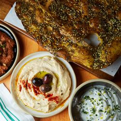 Dips and flatbread