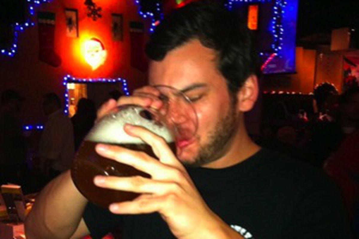 Aaron is a very good drinker.