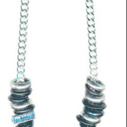 Giles & Brother African glass and silver ring necklace, $105 (originally $175)