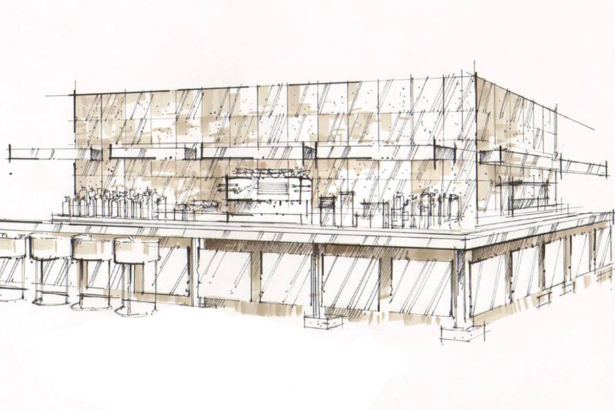 A rendering of the bar at Bedford & Co.