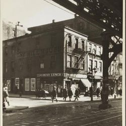 """Jack's Busy Lunch on the corner of Bowery and Rivington, 1932, by Charles Von Urban. From the Collections of the Museum of the City of New York [<a href=""""http://collections.mcny.org/MCNY/C.aspx?VP3=ViewBox&IT=ZoomImageTemplate01_VForm&IID=2F3XC5U0"""