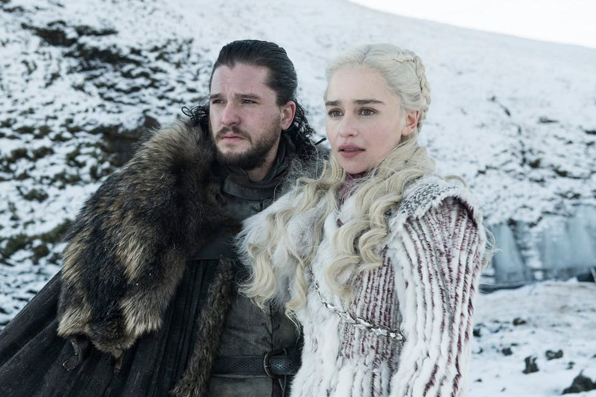Jon and Dany in 'Game of Thrones'