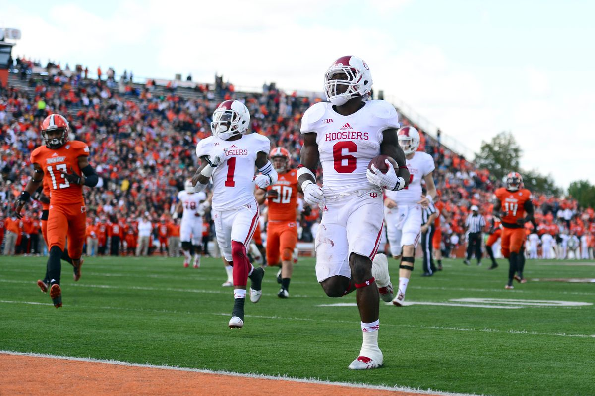 Wide receiver Shane Wynn (1) and running back Tevin Coleman (6) key an explosive Indiana offense.
