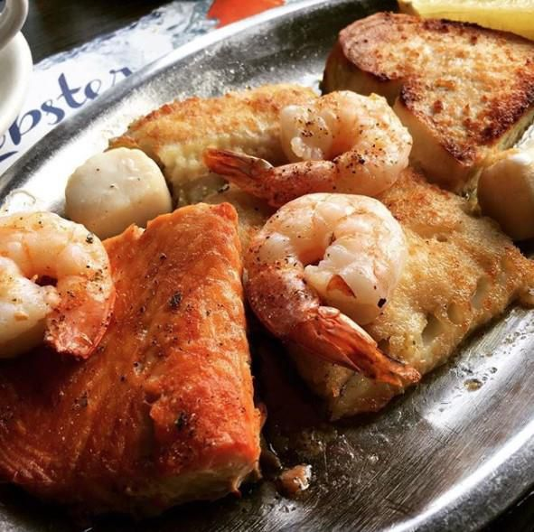 Seafood at No Name Restaurant
