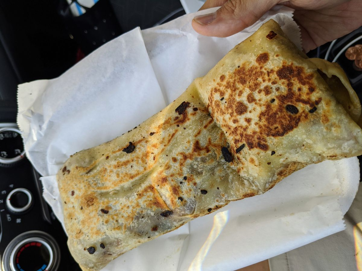 Sobaquera burrito from El Ruso in Boyle Heights.
