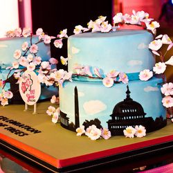 Cherry Blossoms cake from Charm City Cakes, minus Duff Goldman's presence.