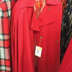 Red Label coat, $430 (was $1,075)