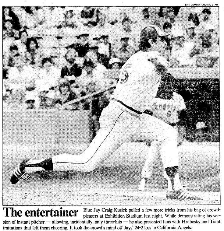 Craig Kusick pitches for the Blue Jays