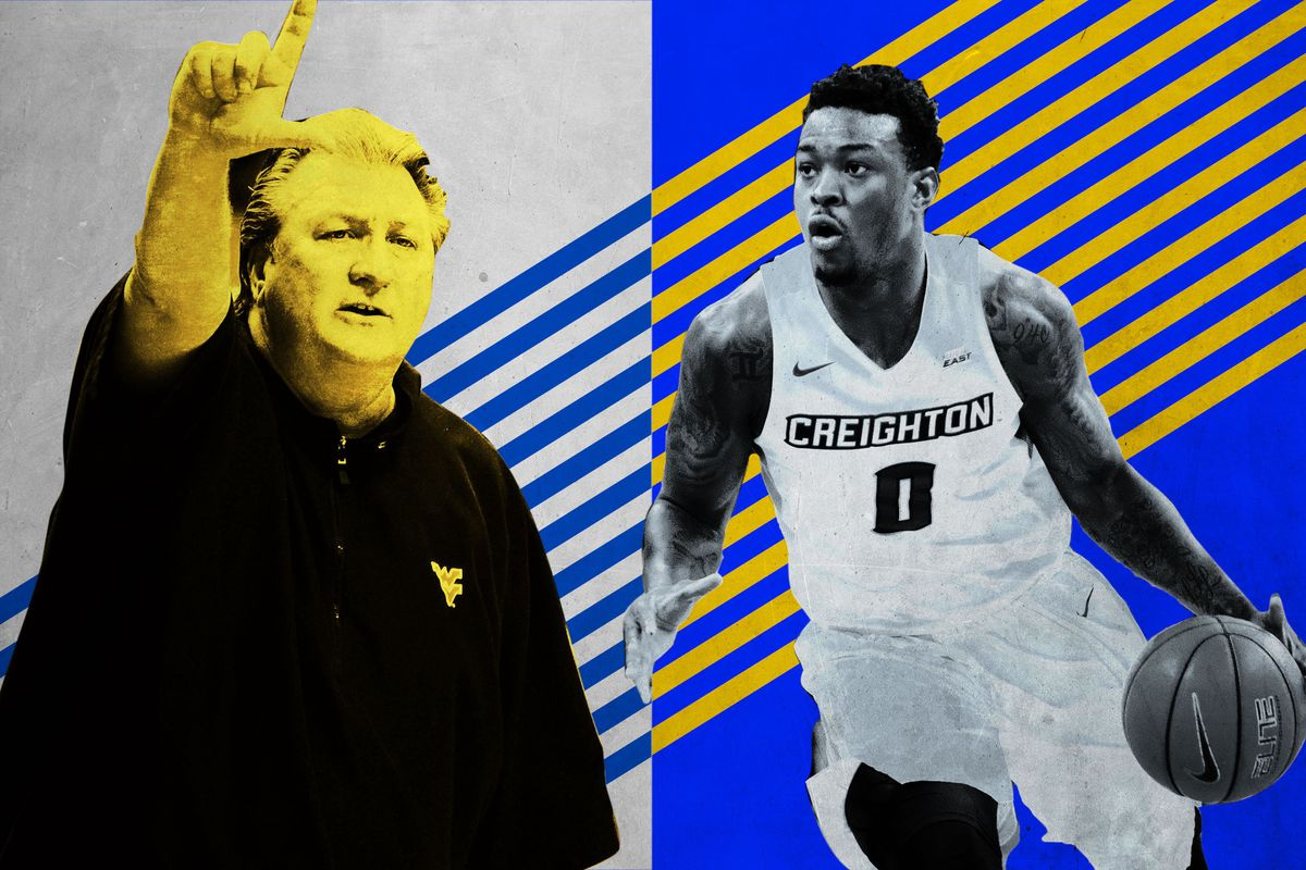 West Virginia coach Bob Huggins and Creighton guard Marcus Foster (Getty Images/Ringer illustration)
