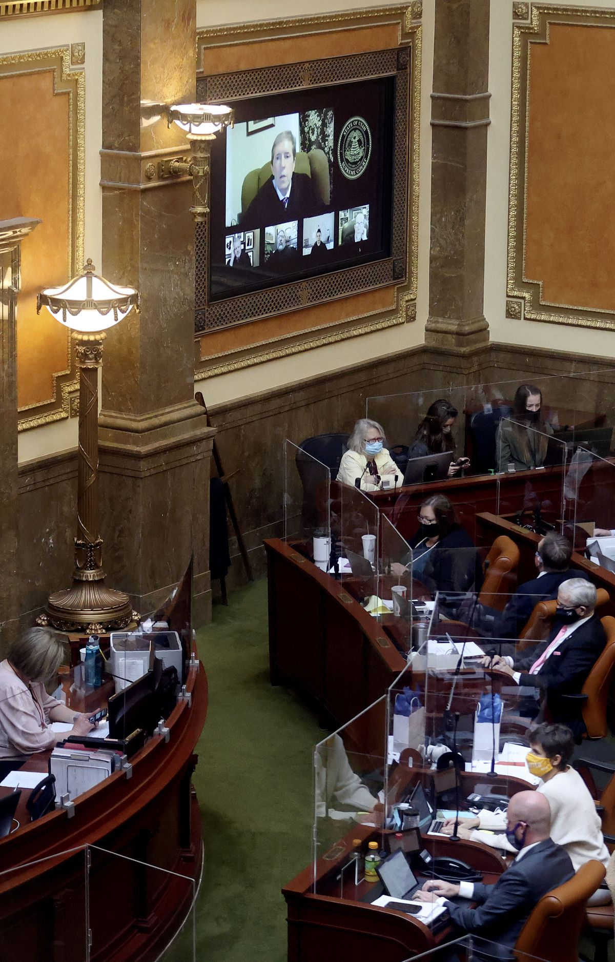 Utah Supreme Court Chief Justice Matthew B. Durrant gives the annual State of the Courts address via Zoom to members of the Utah House of Representatives on the first day of the Utah Legislature's 2021 general session in Salt Lake City on Tuesday, Jan. 19, 2021.