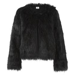 Faux Fur Crop Jacket in Black, $69.99 (Available on Net-A-Porter)