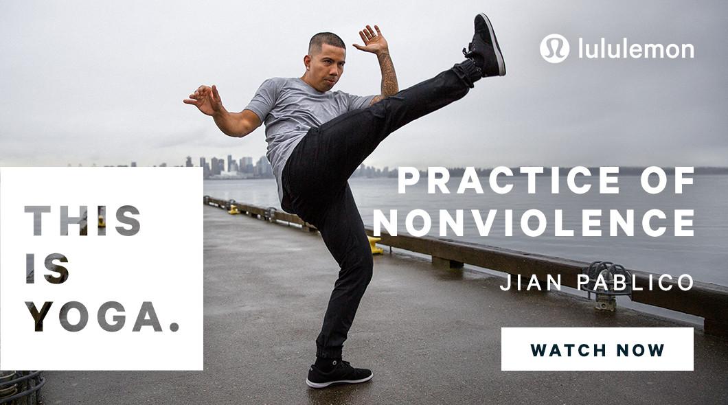 Art of Capoeira instructor Jian Pablico in Lululemon's ad