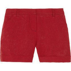 """<a href=""""http://www.net-a-porter.com/product/182634"""">Boy. by Band of Outsiders Linen shorts</a> $157.50 (was $315)"""