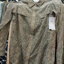 Equipment blouse, $55