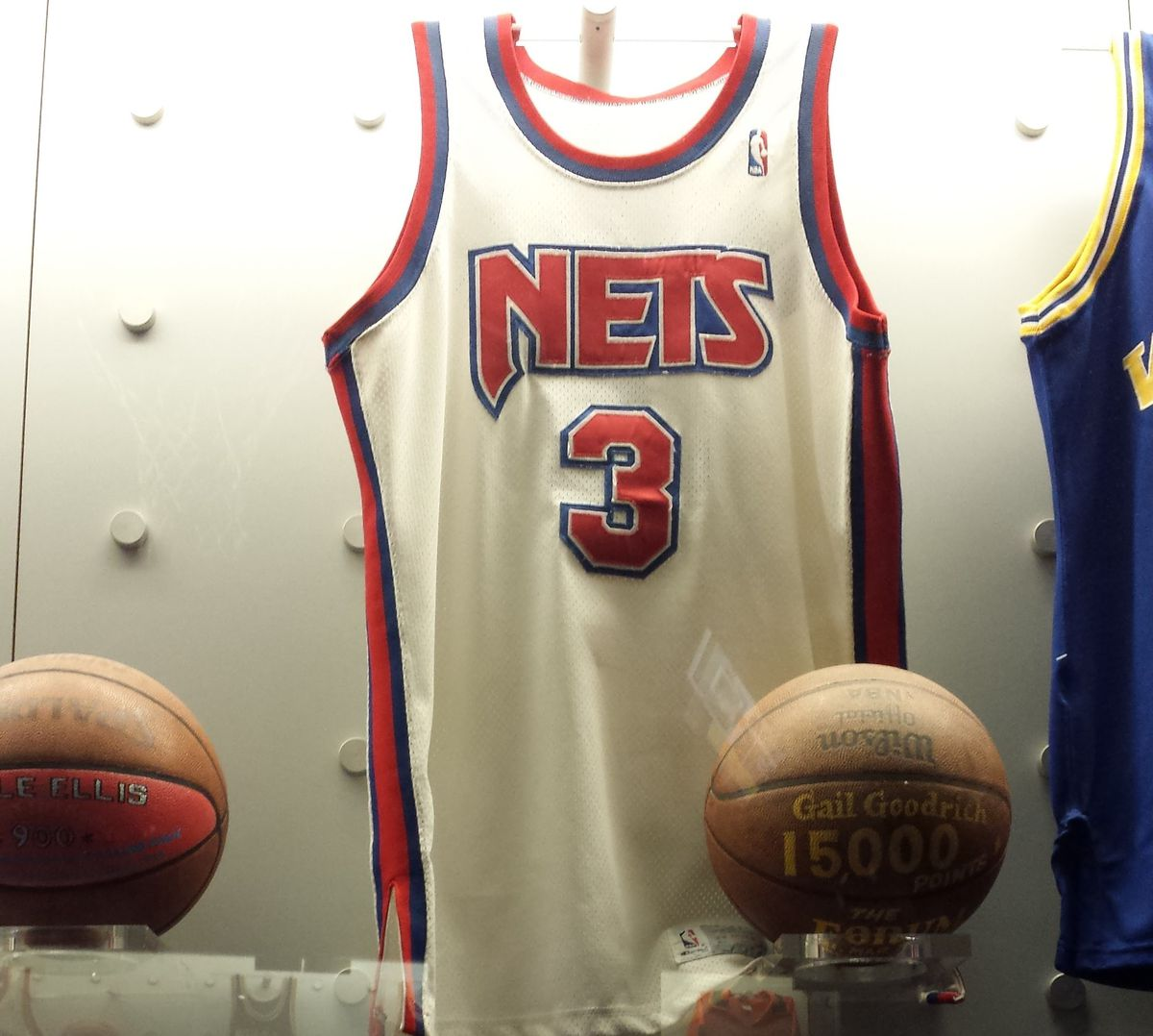 Nets white jersey with red lettering