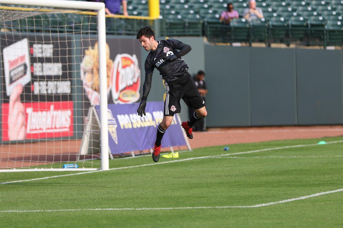 USL TFCII v Louisville City Angelo Cavalluzzo action shot
