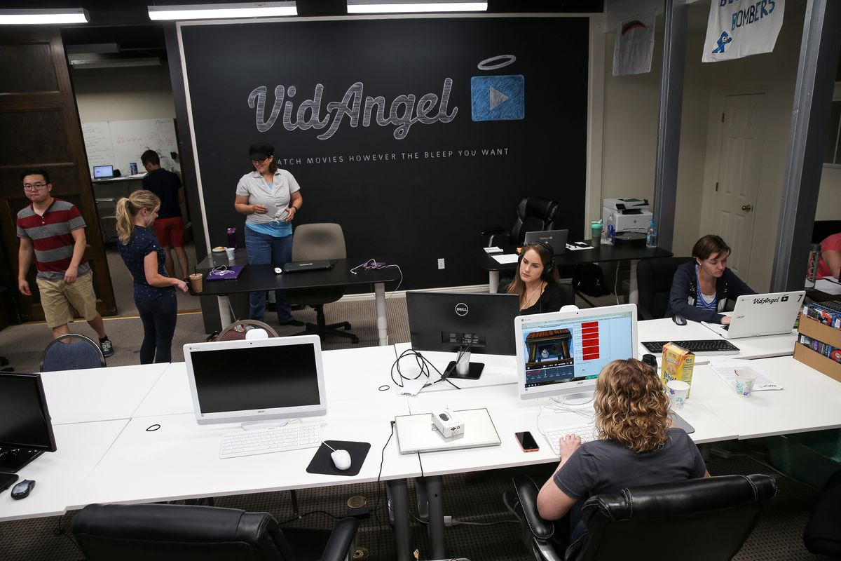 FILE - Employees work at VidAngel's office in Provo on Wednesday, July 20, 2016.