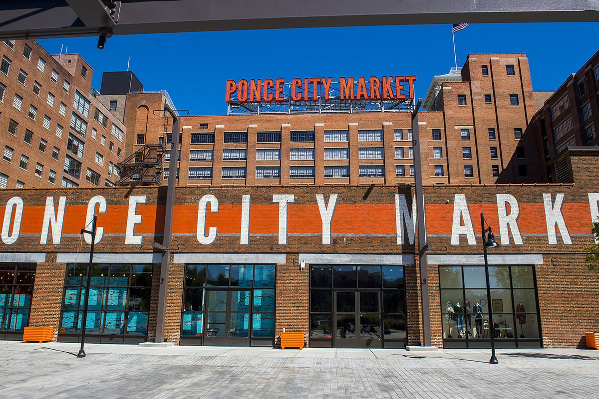Spiller Park Coffee's Ponce City Market kiosk is almost ready to go.