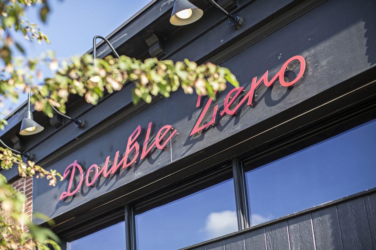 Signage at Double Zero's new Emory Village location.