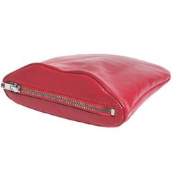"""<b>Part-Time Picnic</b> Lips Red Leather Pouch, <a href=""""http://creaturesofcomfort.us/"""">$196.00</a> at Creatures of Comfort"""
