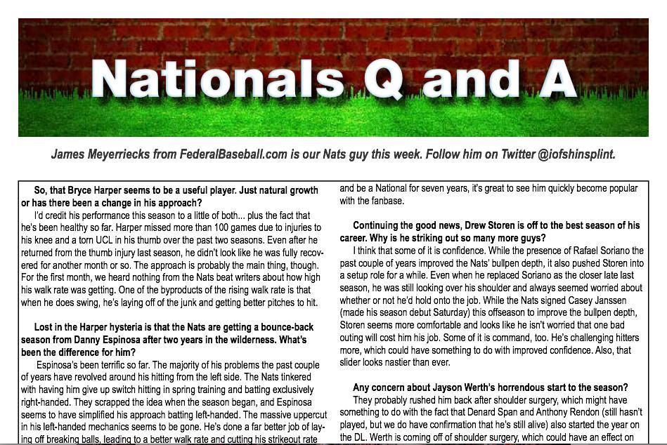 Nats/Cubs Q&A1