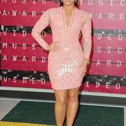 The Vocal Powerhouse (2015): At the VMAs, Demi Lovato went for a sexy yet far more streamlined pink embellished dress by Nicolas Jebran.