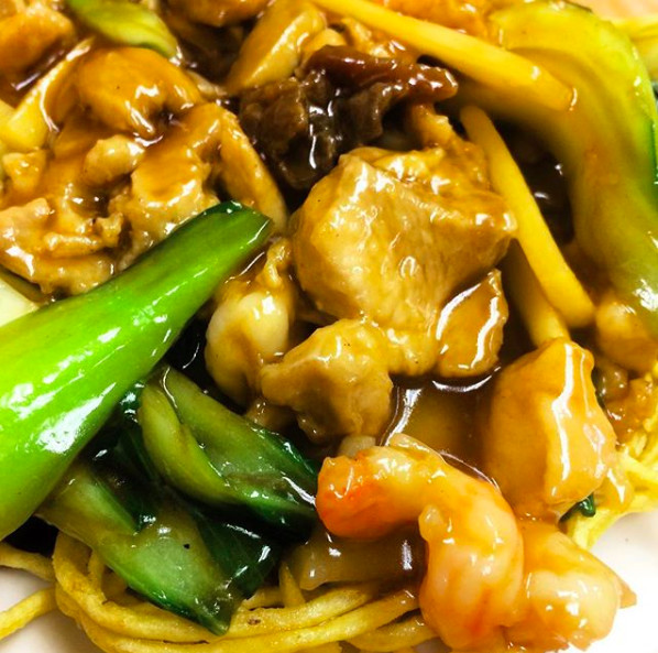 Fried noodle special at Chinese Friends Restaurant.