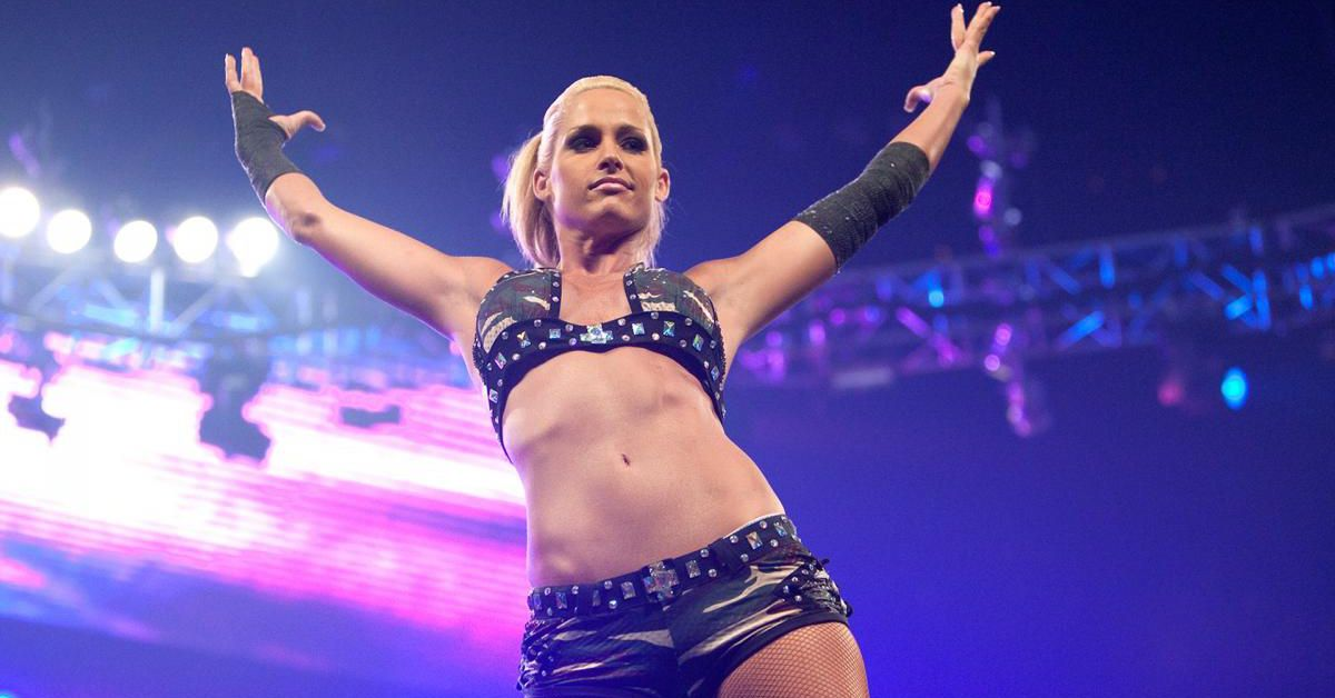 michelle mccool is kicking a little ass  just in time for evolution