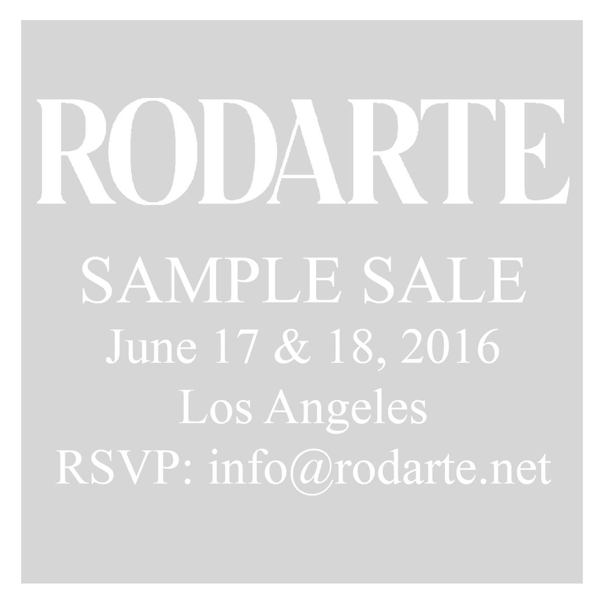 Rodarte LA Sale Flyer