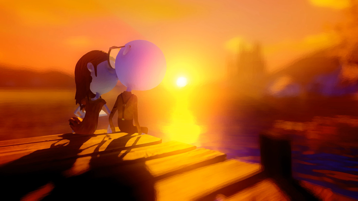 Last Day of June - kissing on a dock at sunset