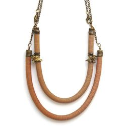 Double Cylinder+Snake Necklace, $83