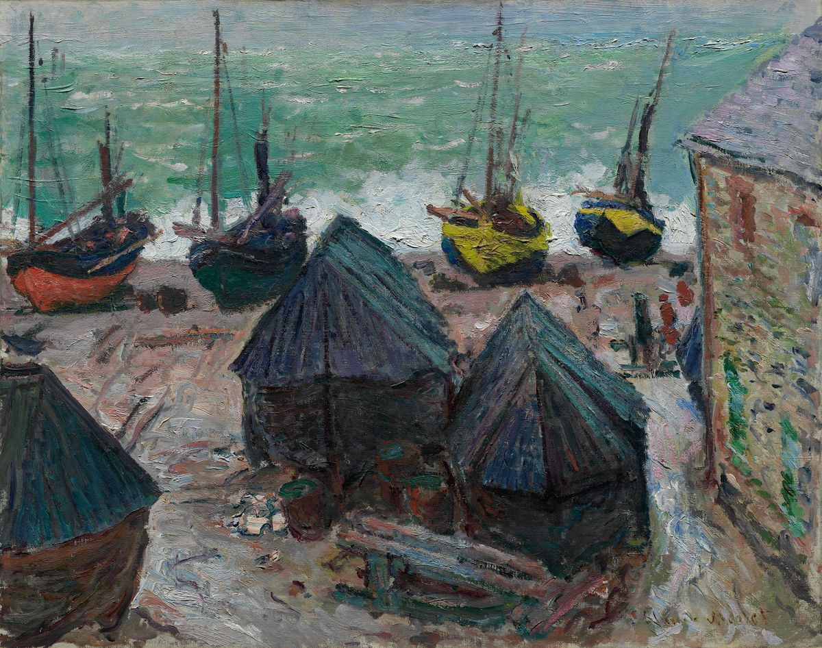 """Claude Monet's """"Boats on the Beach at Étretat and The Departure of Boats, Étretat"""" is the inspiration for a new musical composition by Nico Muhly.  Courtesy Art Institute of Chicago"""
