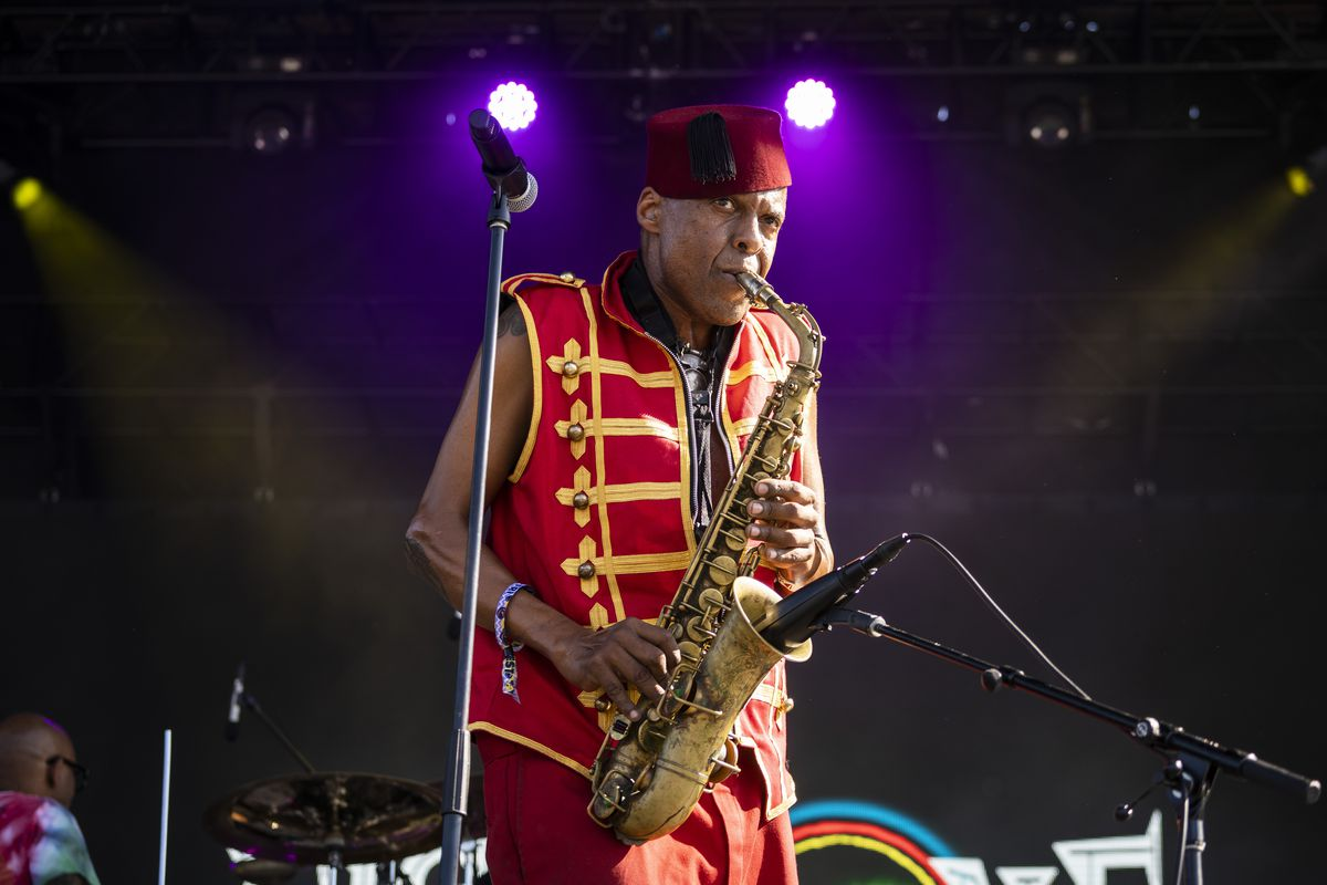Fishbone performs on Day 2 of Riot Fest in Douglass Park, Friday afternoon, Sept. 17, 2021.