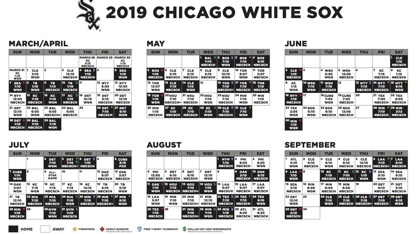2019 White Sox Broadcast Schedule South Side Sox