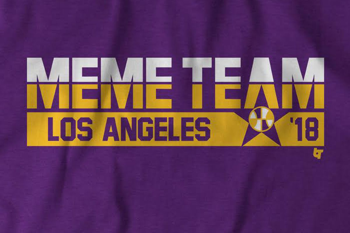 385fb57ac04 Lakers  Meme Team  shirts on sale now - Silver Screen and Roll