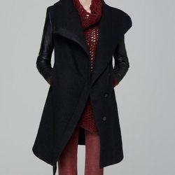 "<a href=""http://www.helmutlang.com/WILLOW-OW/C07HW111,default,pd.html?start=14&cgid=womens-jackets-blazers-outerwear"">Willowed Felt Coat</a> by Helmut Lang, $1,195"