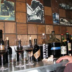 A typical Sutton array of wines, this one's lined up at Local Mission Eatery.