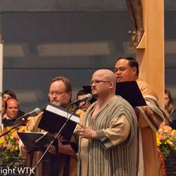 """Performers at the """"Lamb of God"""" oratorio April 24, 2014 at the Cathedral of Christ the Light in Oakland, Calif. Rob Gardner's """"Lamb of God,"""" Easter oratorio will take place March 22-24 in Draper and March 30 in St. George."""