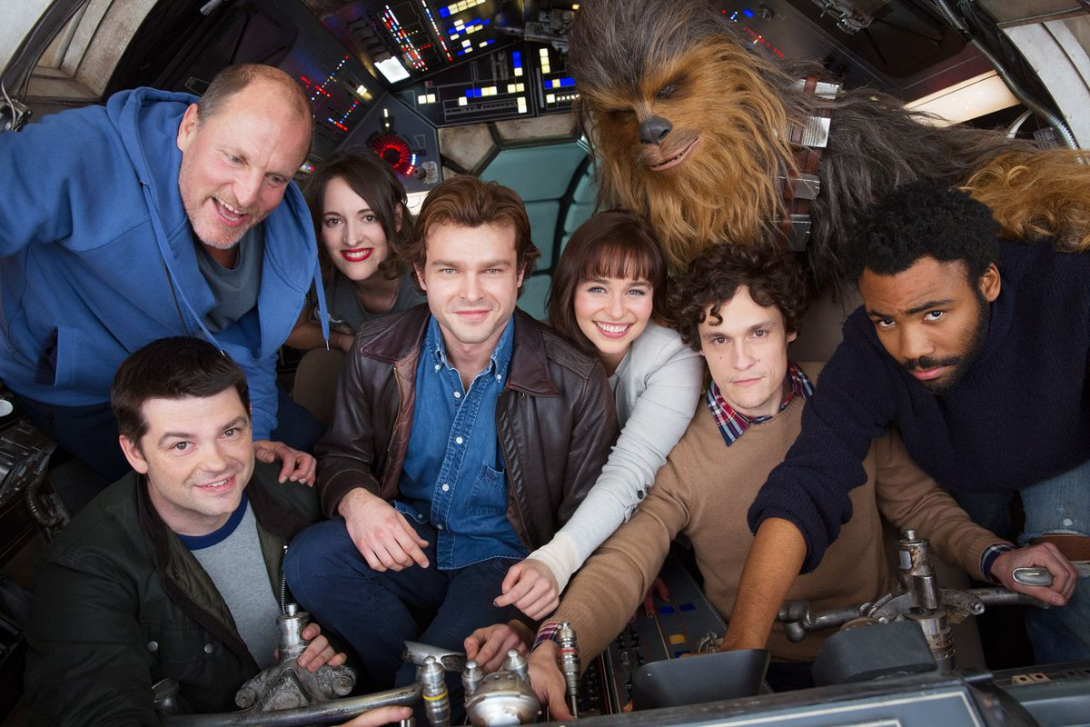 The cast - and erstwhile directors - of the Han Solo spin-off due out in May.